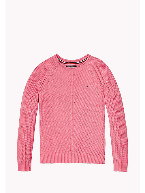 TOMMY HILFIGER Textured Jumper - CONFETTI - TOMMY HILFIGER Girls - main image