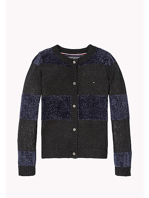 TOMMY HILFIGER Fluffy Sparkle Cardigan - PEACOAT/BLACK BEAUTY - TOMMY HILFIGER Girls - main image