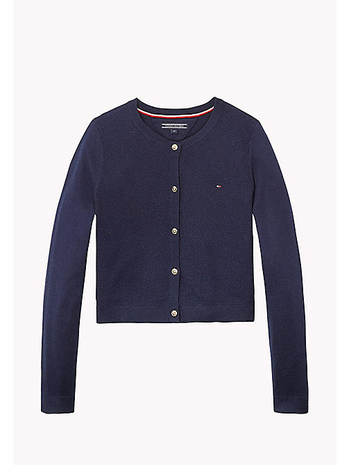 TOMMY HILFIGER Essential Cardigan - BLACK IRIS - TOMMY HILFIGER Girls - main image