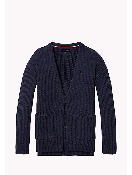 TOMMY HILFIGER Long Sparkle Cardigan - BLACK IRIS - TOMMY HILFIGER Jumpers & Cardigans - main image