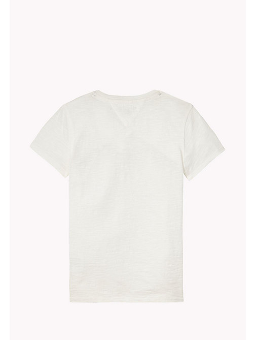 TOMMY HILFIGER FLAG CN KNIT S/S - BRIGHT WHITE - TOMMY HILFIGER Топы - подробное изображение 1