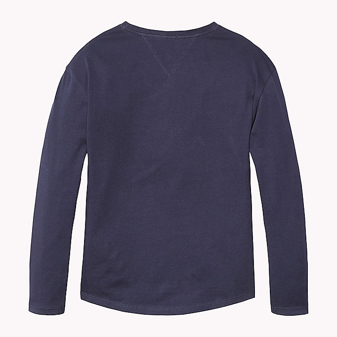 TOMMY HILFIGER Organic Cotton Crew Neck T-Shirt - NEW GREY HEATHER B1NAC04 VOL. 46 - TOMMY HILFIGER Kids - detail image 1