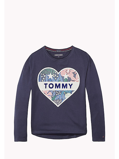 TOMMY HILFIGER Organic Cotton Crew Neck T-Shirt - BLACK IRIS - TOMMY HILFIGER Tops & T-shirts - main image