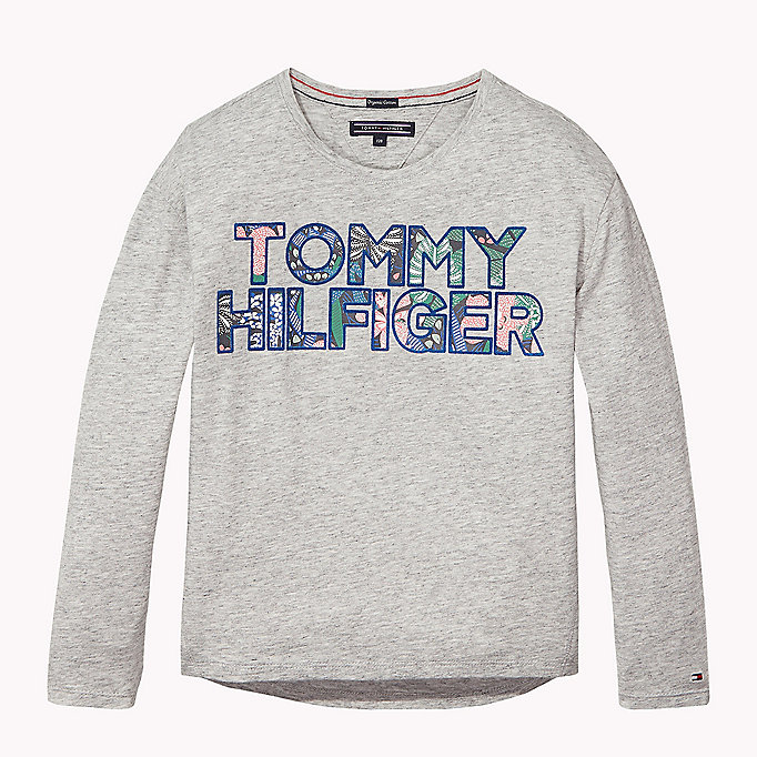 TOMMY HILFIGER Organic Cotton Crew Neck T-Shirt - BLACK IRIS - TOMMY HILFIGER Kids - main image