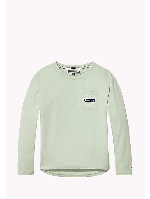 TOMMY HILFIGER AME POCKET CN KNIT L/S - AQUA FOAM - TOMMY HILFIGER Tops & T-shirts - main image