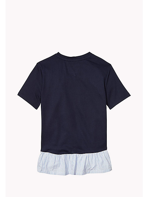 TOMMY HILFIGER T-shirt con orlo con ruches - BLACK IRIS - TOMMY HILFIGER Top & T-shirt - dettaglio immagine 1