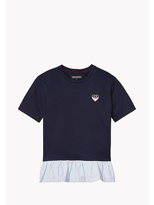TOMMY HILFIGER T-shirt con orlo con ruches - BLACK IRIS - TOMMY HILFIGER Top & T-shirt - immagine principale