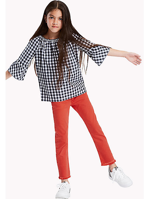 TOMMY HILFIGER Kids' Straight Fit Cropped Jeans - FLAME SCARLET - TOMMY HILFIGER Trousers, Shorts & Skirts - main image