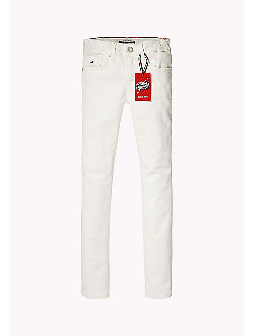 TOMMY HILFIGER Kids' Skinny Fit Jeans - BRIGHT WHITE - TOMMY HILFIGER Trousers, Shorts & Skirts - main image