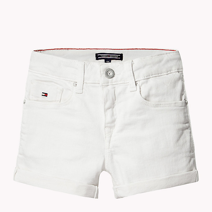 TOMMY HILFIGER Skinny Fit Denim Shorts - PAPAYA PUNCH - TOMMY HILFIGER Kinder - main image 1