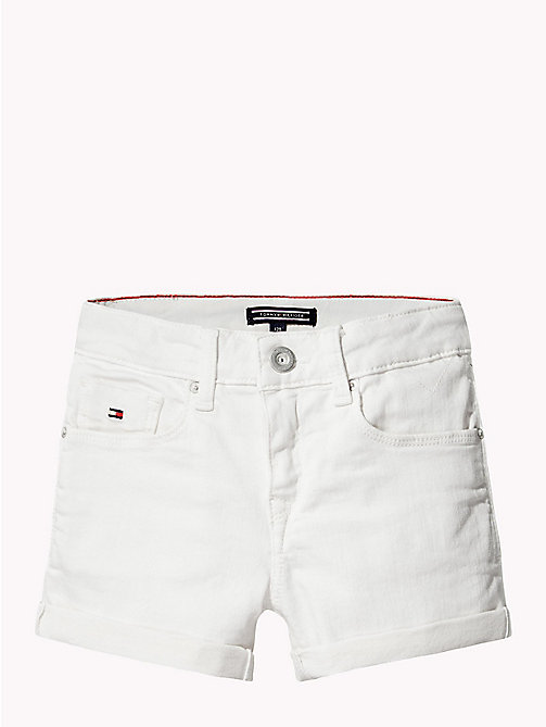 TOMMY HILFIGER Skinny Fit Denim Shorts - BRIGHT WHITE - TOMMY HILFIGER Girls - detail image 1