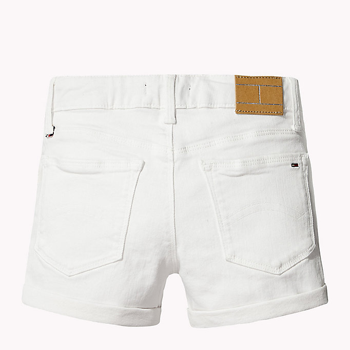 TOMMY HILFIGER Skinny Fit Denim Shorts - PAPAYA PUNCH - TOMMY HILFIGER Kinder - main image 2
