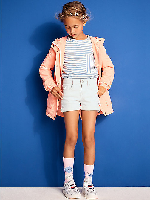 TOMMY HILFIGER Skinny Fit Denim Shorts - BRIGHT WHITE - TOMMY HILFIGER Bambine - immagine principale