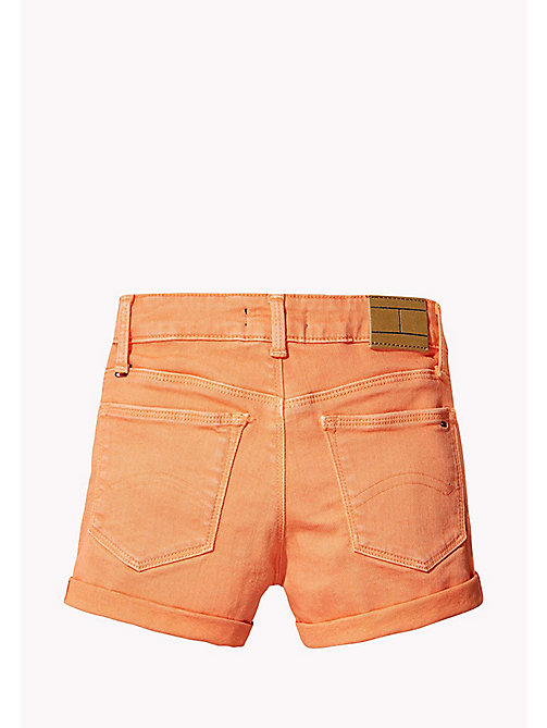 TOMMY HILFIGER Skinny Fit Denim Shorts - PAPAYA PUNCH - TOMMY HILFIGER Girls - detail image 1