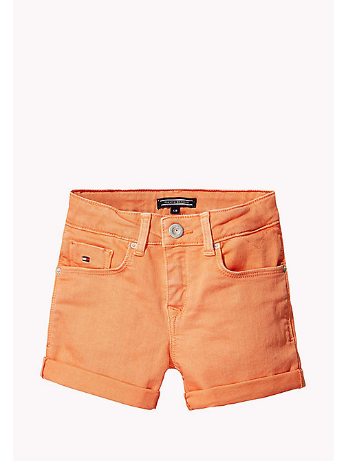 TOMMY HILFIGER Skinny Fit Denim Shorts - PAPAYA PUNCH - TOMMY HILFIGER Filles - image principale