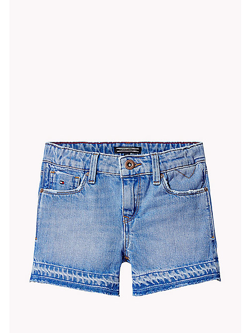 TOMMY HILFIGER Denim Slim Fit Shorts - VALLEY SKY BLUE RIGID - TOMMY HILFIGER Girls - main image