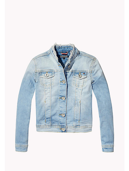 TOMMY HILFIGER Frayed Denim Jacket - CALI LIGHT POWER STRETCH - TOMMY HILFIGER Girls - main image
