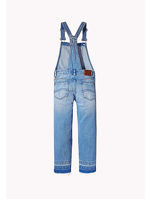 TOMMY HILFIGER Faded Denim Dungarees - VALLEY SKY BLUE RIGID - TOMMY HILFIGER Girls - detail image 1
