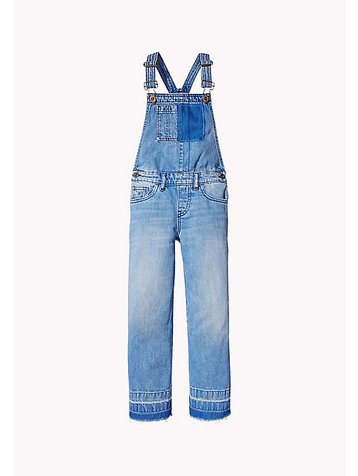 TOMMY HILFIGER Faded Denim Dungarees - VALLEY SKY BLUE RIGID - TOMMY HILFIGER Girls - main image