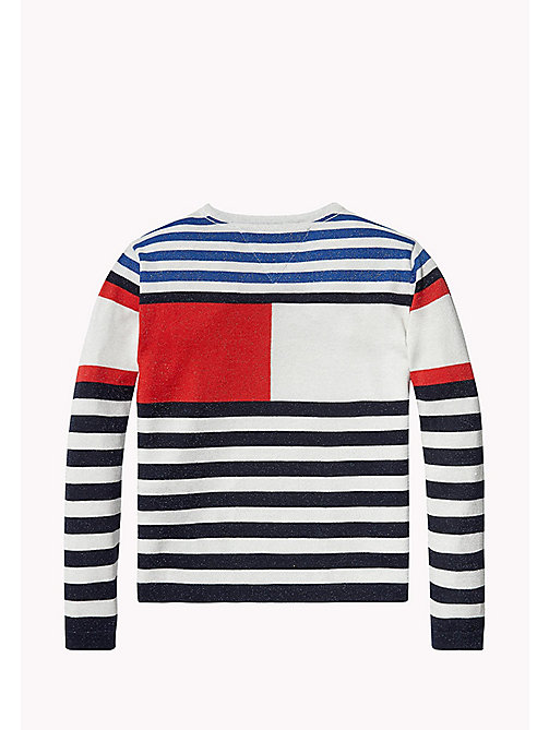 TOMMY HILFIGER Kids' Sparkly Flag Jumper - BLACK IRIS - TOMMY HILFIGER Girls - detail image 1