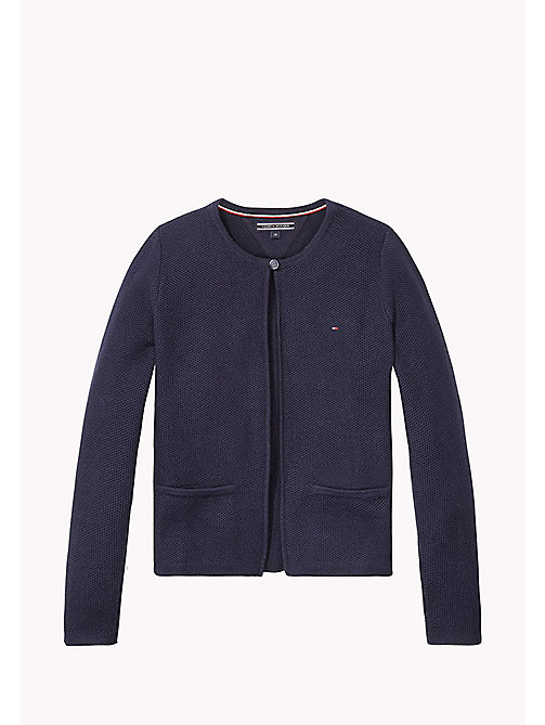 TOMMY HILFIGER Textured Cardigan - BLACK IRIS - TOMMY HILFIGER Girls - main image