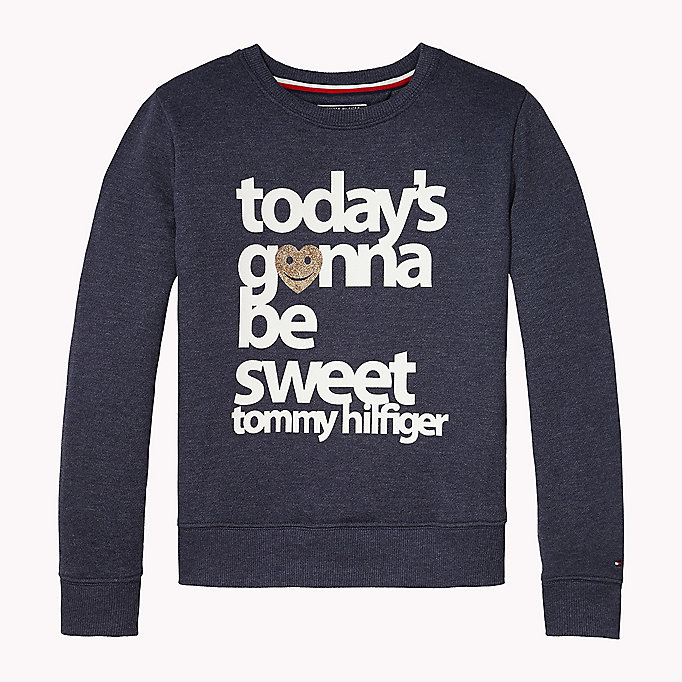 TOMMY HILFIGER Statement Logo Sweatshirt - BRIGHT WHITE - TOMMY HILFIGER Kids - main image