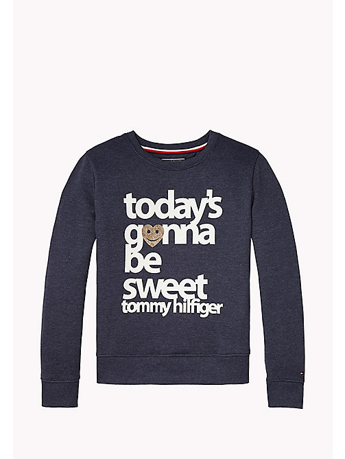 TOMMY HILFIGER Statement Logo Sweatshirt - BLACK IRIS - TOMMY HILFIGER Sweatshirts & Hoodies - main image