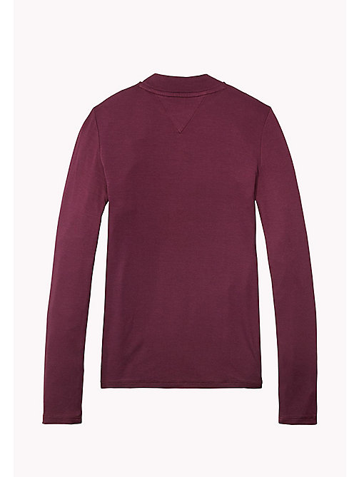 TOMMY HILFIGER High Neck Long Sleeve T-Shirt - GRAPE WINE - TOMMY HILFIGER Girls - detail image 1
