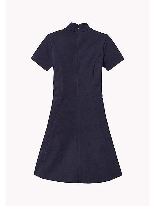 TOMMY HILFIGER Fit and Flare Dress - NAVY BLAZER - TOMMY HILFIGER Girls - detail image 1