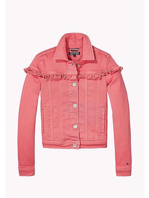 TOMMY HILFIGER Ruffled Denim Jacket - CONFETTI - TOMMY HILFIGER Girls - main image