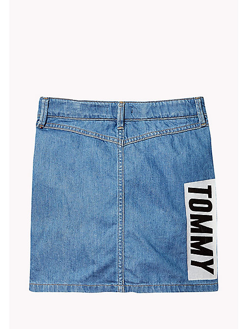 TOMMY HILFIGER Badge Adorned Denim Skirt - KEYS LIGHT BLUE RIGID - TOMMY HILFIGER Girls - detail image 1