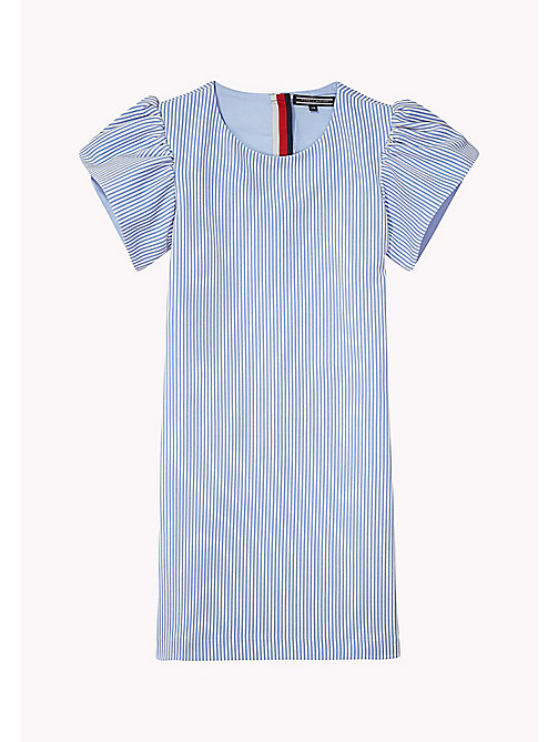 TOMMY HILFIGER Flare Sleeve Cotton Dress - SERENITY - TOMMY HILFIGER Girls - main image