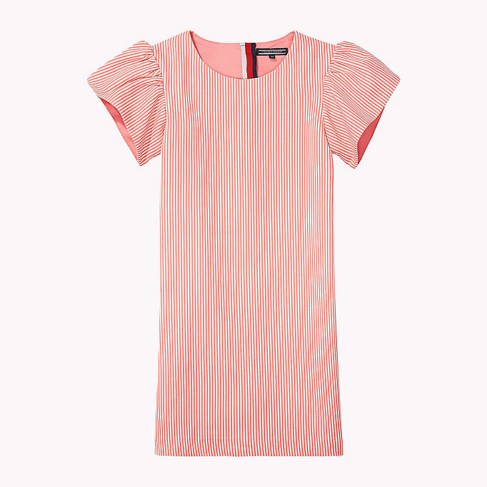 TOMMY HILFIGER Flare Sleeve Cotton Dress - SERENITY - TOMMY HILFIGER Kids - main image