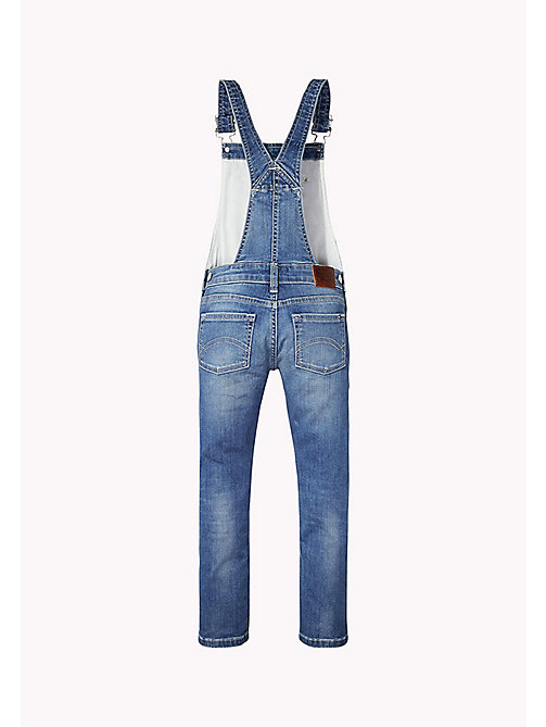 TOMMY HILFIGER Straight Fit Dungarees - NEVADA MID BLUE STRETCH - TOMMY HILFIGER Girls - detail image 1