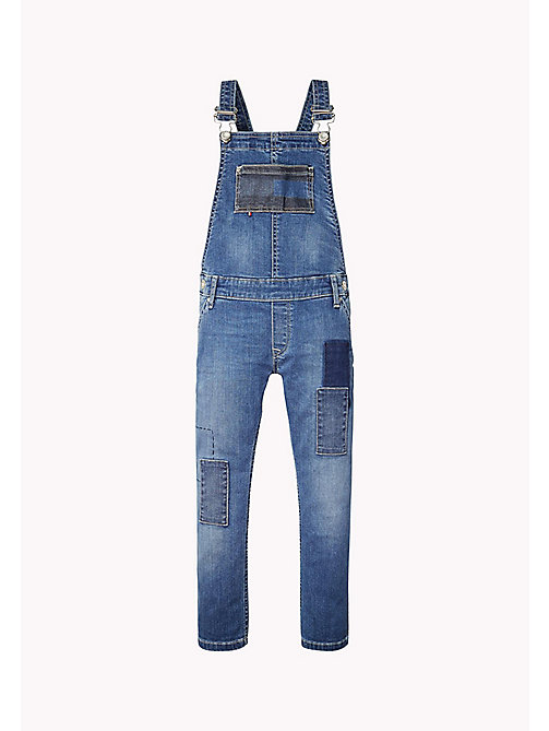 TOMMY HILFIGER Straight Fit Dungarees - NEVADA MID BLUE STRETCH - TOMMY HILFIGER Girls - main image