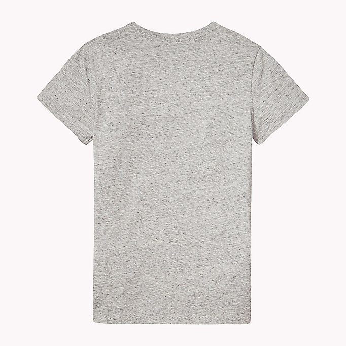 TOMMY HILFIGER Organic Cotton Crew Neck T-Shirt - BRIGHT WHITE? 11-0601 - TOMMY HILFIGER Kids - detail image 1