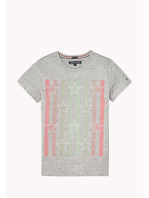 TOMMY HILFIGER Rundhals-T-Shirt aus Bio-Baumwolle - NEW GREY HEATHER B1NAC04 VOL. 46? - TOMMY HILFIGER Oberteile & T-shirts - main image