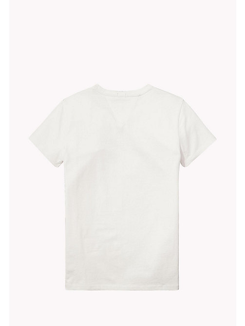 TOMMY HILFIGER Organic Cotton Crew Neck T-Shirt - BRIGHT WHITE? 11-0601 - TOMMY HILFIGER Tops & T-shirts - detail image 1