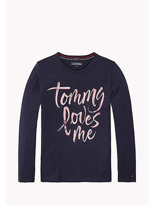 TOMMY HILFIGER T-shirt con logo stampato - BLACK IRIS? 19-3921 - TOMMY HILFIGER Top & T-shirt - immagine principale