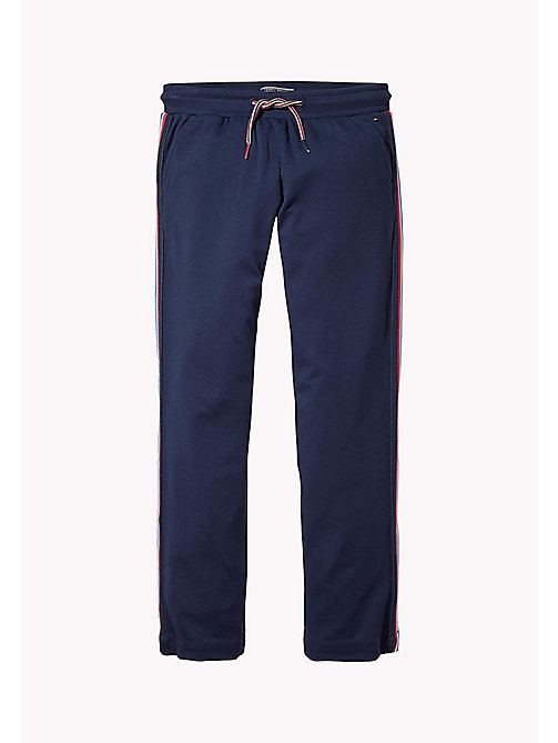TOMMY HILFIGER Signature Tape Track Pants - BLACK IRIS - TOMMY HILFIGER Trousers, Shorts & Skirts - detail image 1