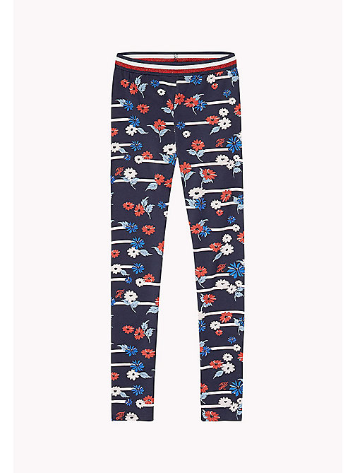 TOMMY HILFIGER Floral Printed Leggings - FLAME SCARLET - TOMMY HILFIGER Trousers, Shorts & Skirts - main image