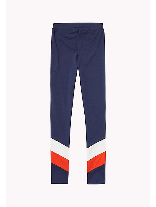 TOMMY HILFIGER Colour-Blocked Leggings - BLACK IRIS - TOMMY HILFIGER Trousers, Shorts & Skirts - detail image 1