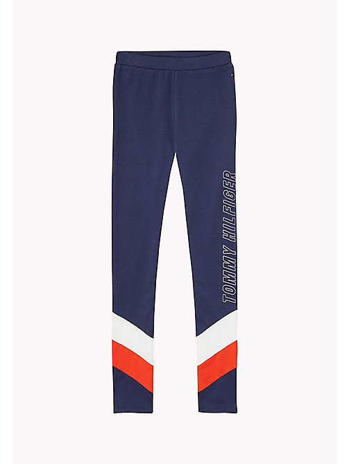 TOMMY HILFIGER Colour-Blocked Leggings - BLACK IRIS - TOMMY HILFIGER Trousers, Shorts & Skirts - main image