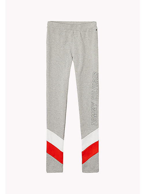 TOMMY HILFIGER Colour-Blocked Leggings - MODERN GREY HEATHER - TOMMY HILFIGER Trousers, Shorts & Skirts - main image