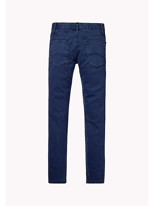 TOMMY HILFIGER Skinny Fit Trousers - BLACK IRIS - TOMMY HILFIGER Girls - detail image 1