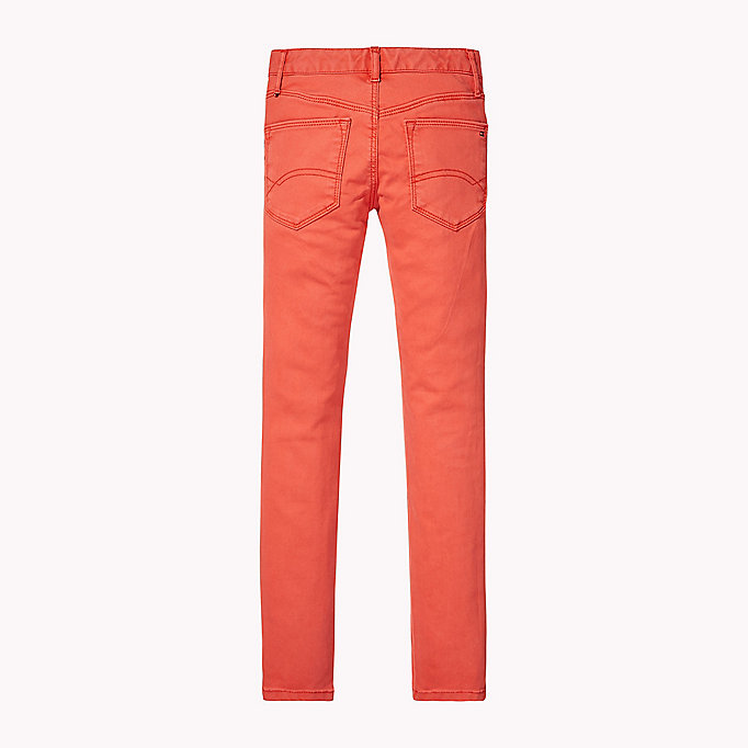 TOMMY HILFIGER Skinny Fit Trousers - BLACK IRIS - TOMMY HILFIGER Kids - detail image 1