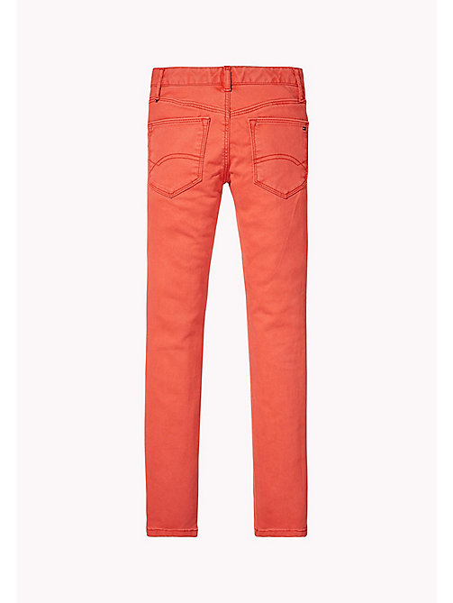TOMMY HILFIGER Skinny Fit Trousers - SPICED CORAL - TOMMY HILFIGER Girls - detail image 1