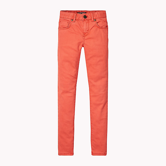 TOMMY HILFIGER Skinny Fit Trousers - BLACK IRIS - TOMMY HILFIGER Kids - main image