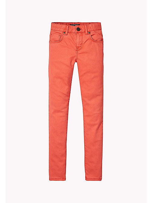TOMMY HILFIGER Skinny Fit Trousers - SPICED CORAL - TOMMY HILFIGER Girls - main image