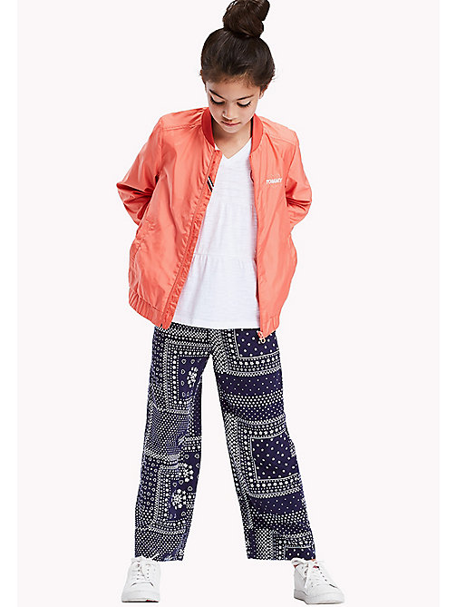 TOMMY HILFIGER Bandana Print Trousers - BLACK IRIS - TOMMY HILFIGER Girls - main image